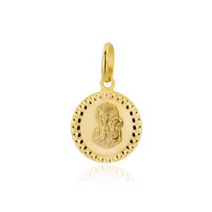 Złoty medalik Matka Boska Częstochowska pr.333