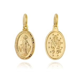 Złoty medalik Matka Boska Niepokalanego Poczęcia cudowny pr.585