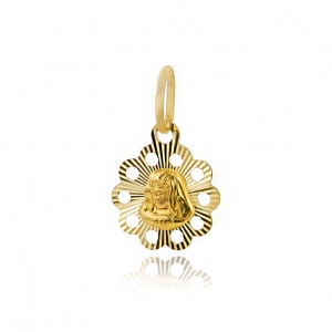 Złoty medalik Matka Boska pr.333
